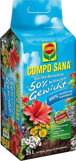 COMPO SANA Blumenerde 25 l, 50% weniger Gewicht