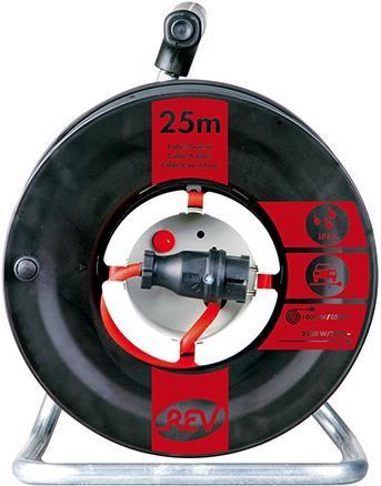 Gerätetrommel H07RN-F3G 25 m, schwarz/rot