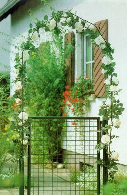 Gartentor zinkph.grün 100 X 80 cm verst.Band